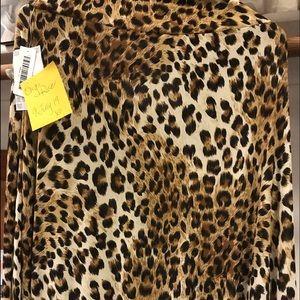 NWT Lularoe large Maxi Slinky Leopard